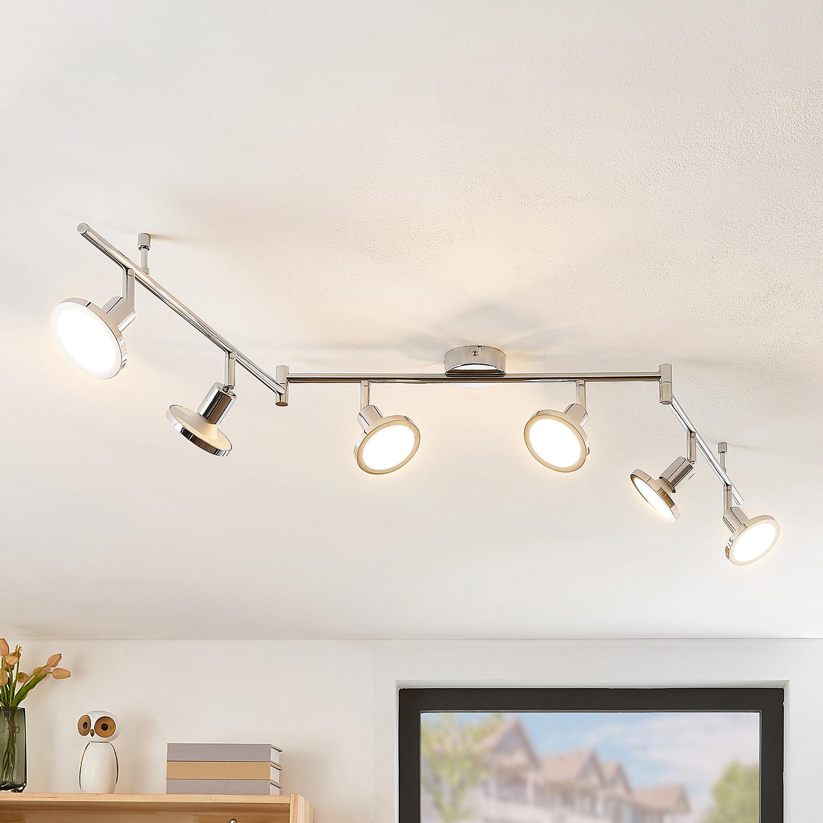 Lindby Ayden LED -kattovalaisin, kuusilamppuinen