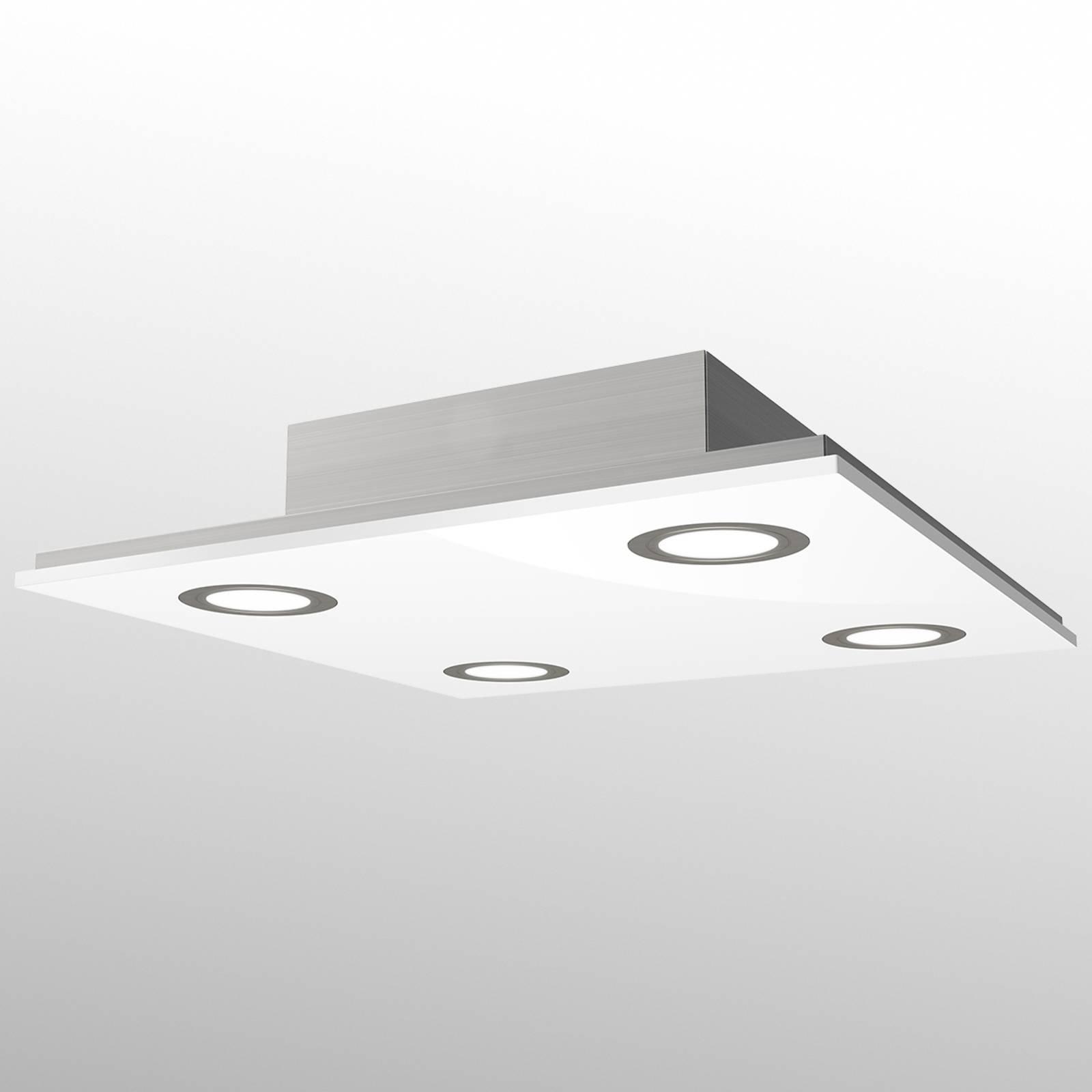 Kvadratisk LED-taklampe Pano, hvit