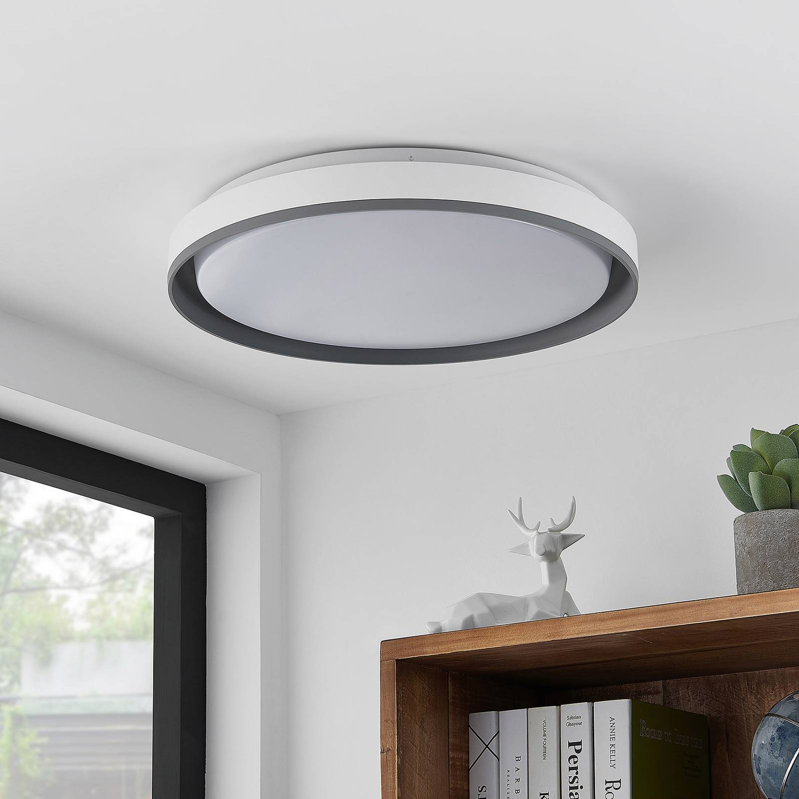 Lindby Brennon -LED-kattovalaisin Ø 51 cm 4 000 K