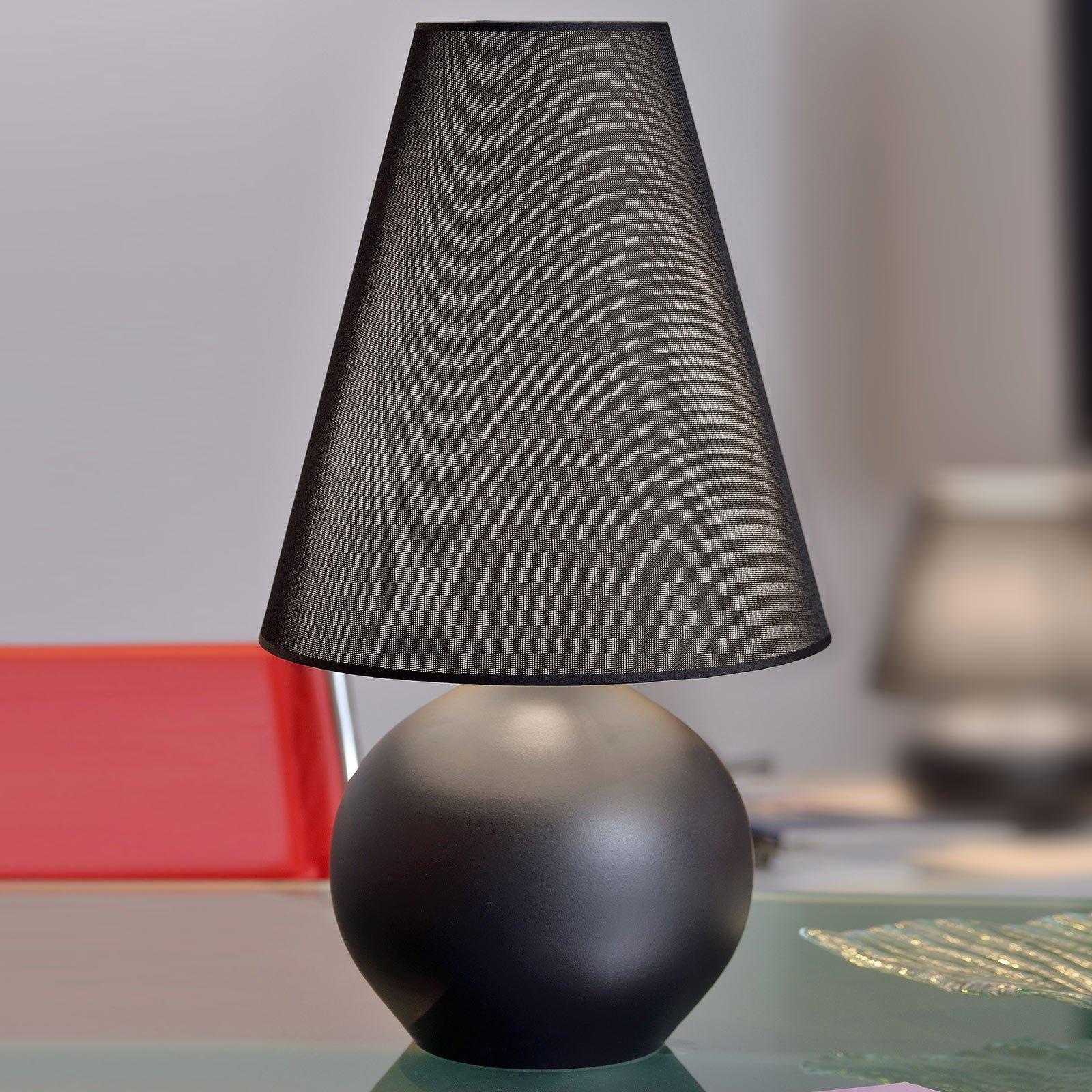 Bordlampe Sfera, høyde 44 cm, svart