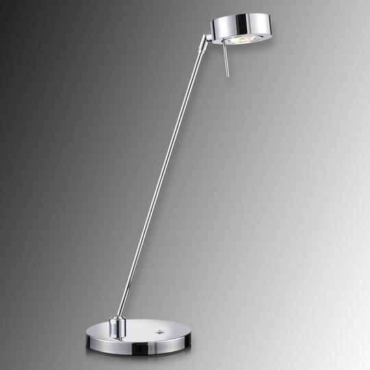 Kaksinivelinen LED-pöytävalaisin Elegance, kromi