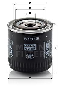 Öljynsuodatin MANN-FILTER W 920/45