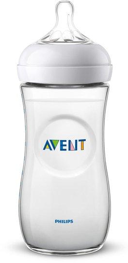 Philips Avent Natural Tåteflaske 330ml inkl. Fast Flow Flaskesmokk