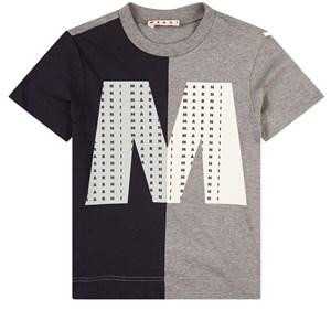 Marni Branded Colorblock T-shirt Marinblå 4 år