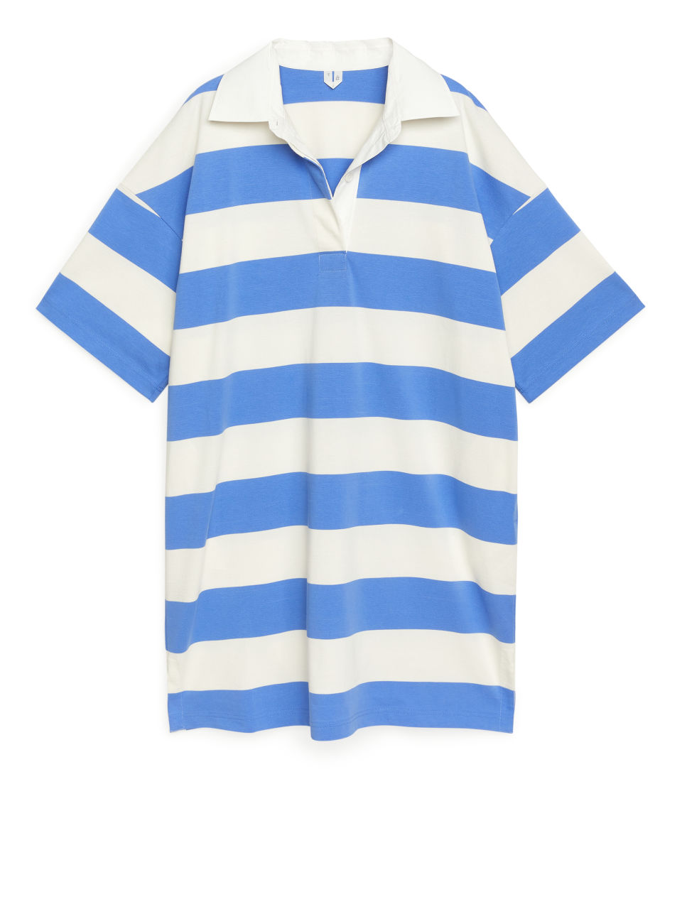 Oversized Rugby Dress - Blue