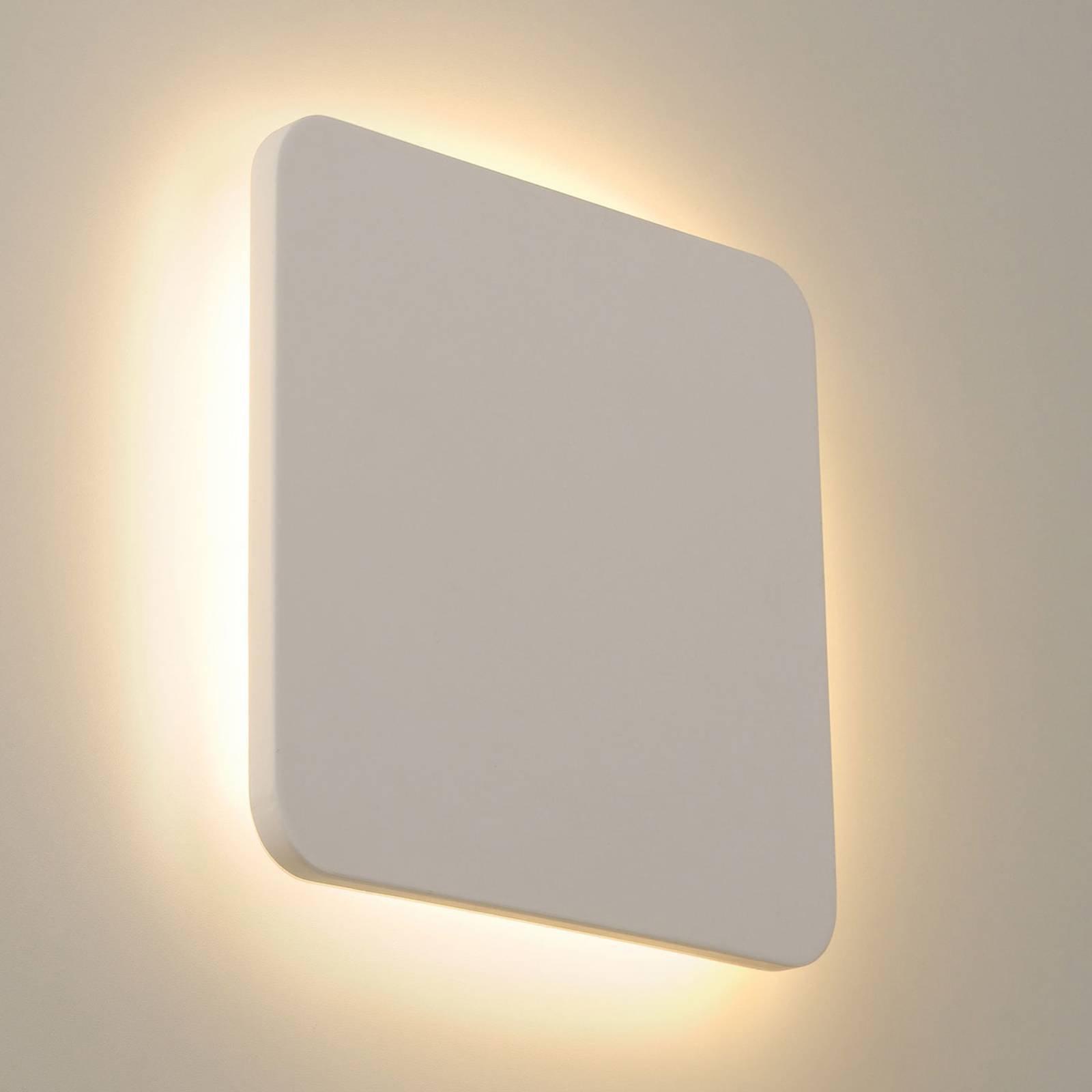 SLV Plastra LED-vegglampe av gips, kantet, 30x30cm