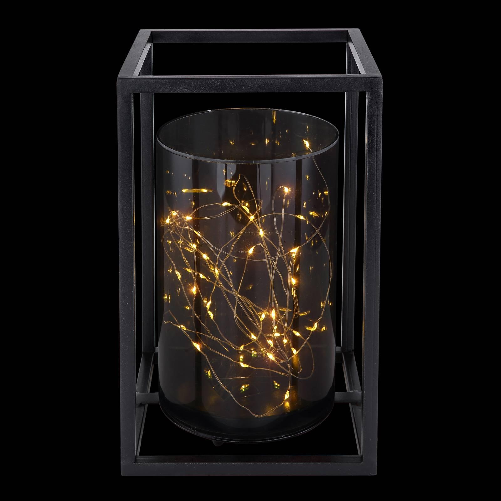 Aurinkokäyttöinen LED-valaisin 33817, metallikehys