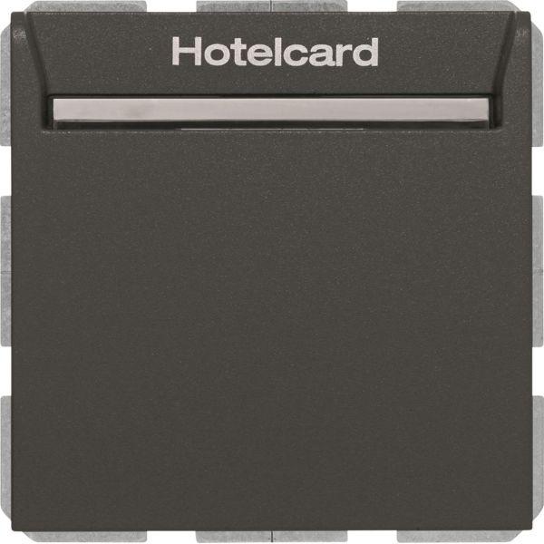 Hager 16406096 Hotellikorttikytkin Q.1 Antrasiitti