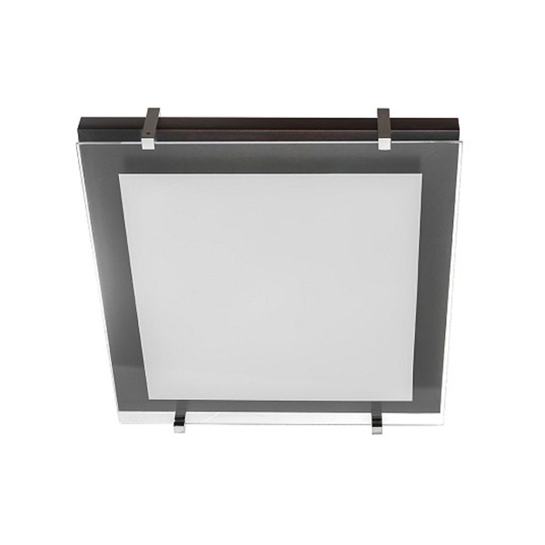 Taklampe P1 av tre og glass 30x30cm