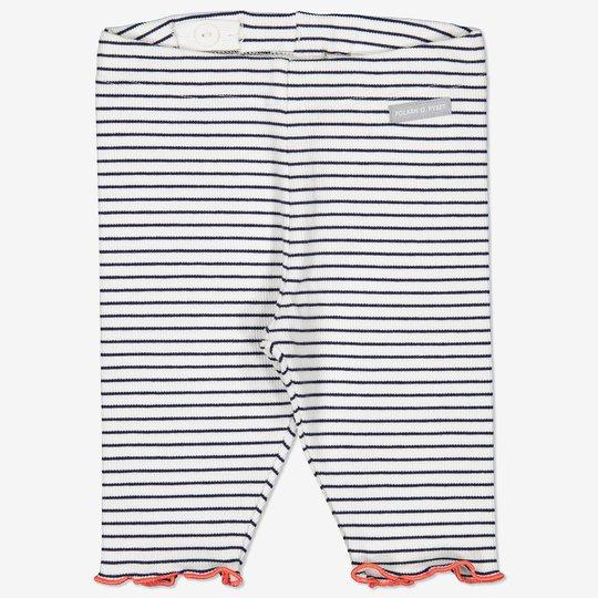 Stripet bukse baby hvit