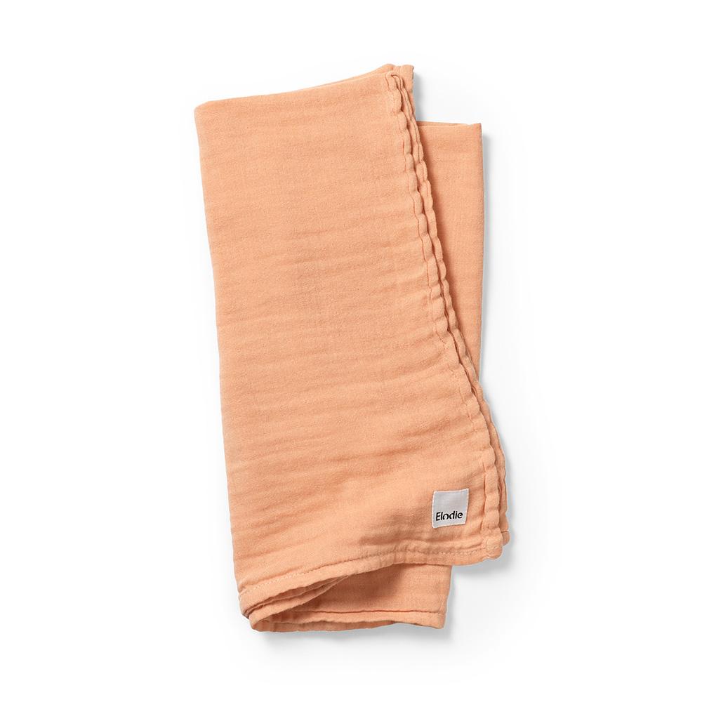 Bamboo Muslin Blanket - Amber Apricot