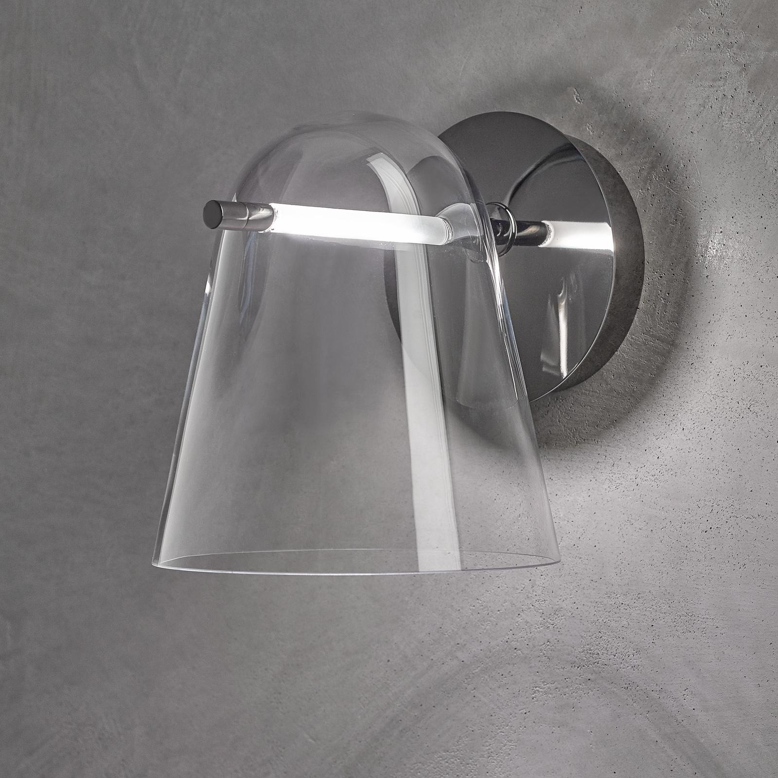Prandina Sino W3 -LED-seinävalaisin kirkas/musta