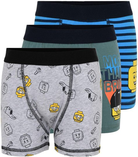 LEGO Collection Boksershorts3-pack, Grey, 122