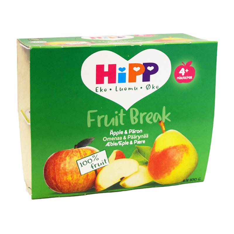 Fruktpuré Äpple & Päron 4 x 100g - 58% rabatt