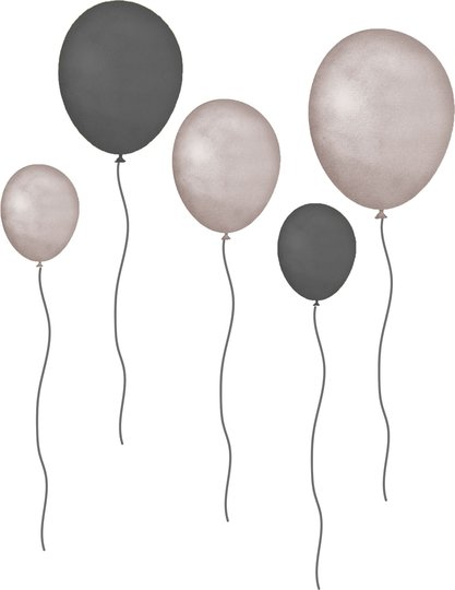 That's Mine Wallsticker Balloons 5-Pack, Grå