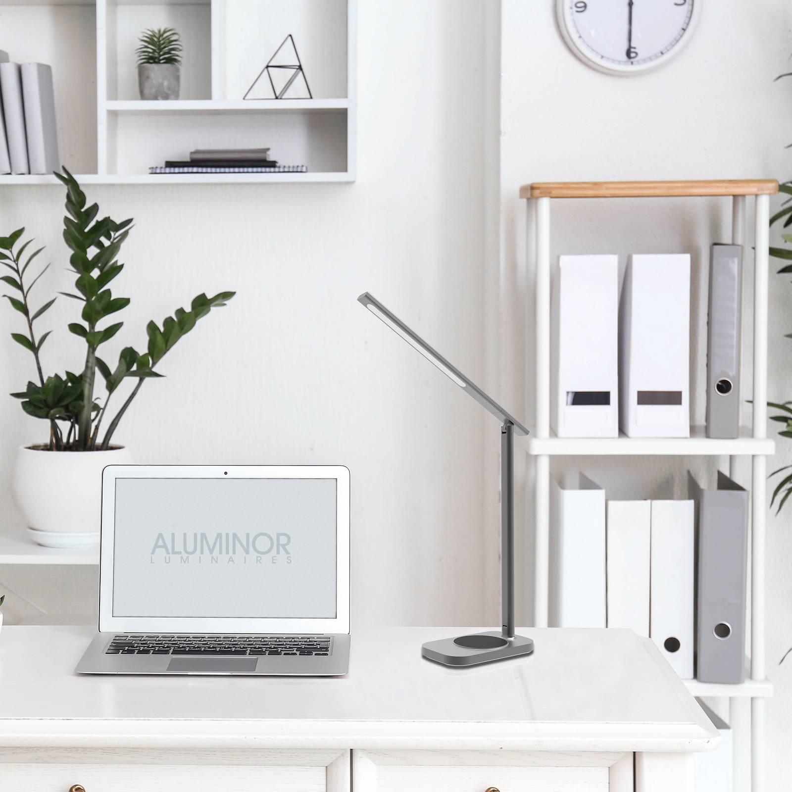 Aluminor Lunia -LED-pöytävalaisin, USB