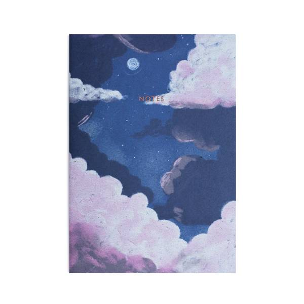 Lilac Dusk A4ish Notebook