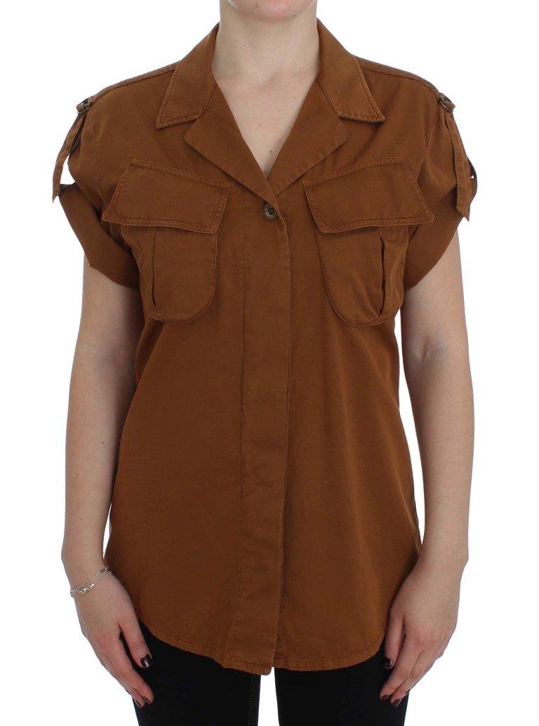 PLEIN SUD Women's SS Shirt Orange SIG30997 - IT42   S