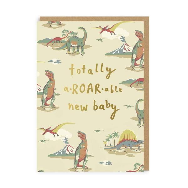 Totally A-Roar-Able New Baby Greeting Card