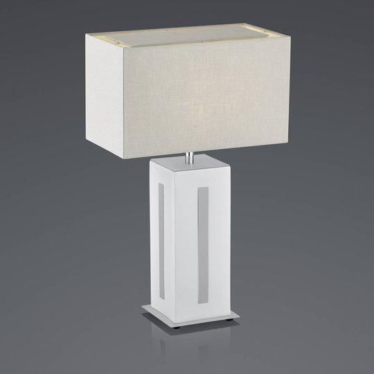 BANKAMP Karlo bordlampe hvit/grå, høyde 56 cm