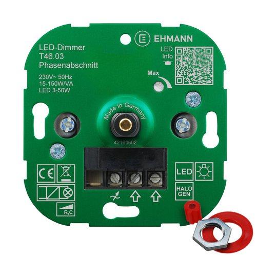 EHMANN T46 LED-dimmer faseavsnitt, 15-150 W