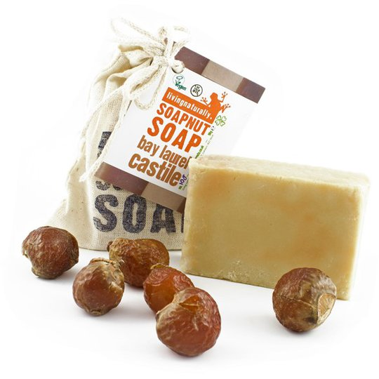 Living Naturally Bay Laurel Soapnut Soap Bar, 90 g
