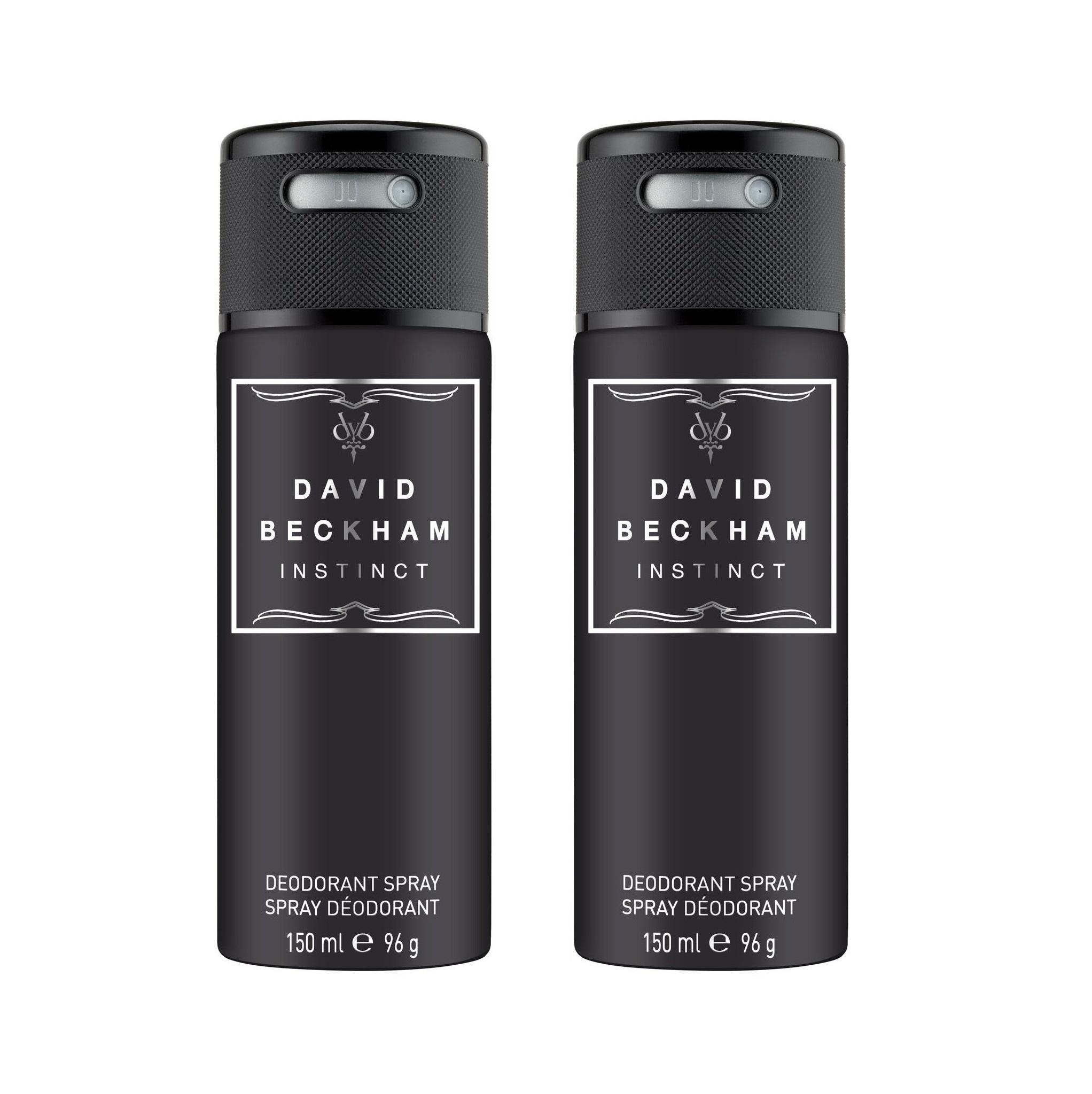 David Beckham - 2x Instinct Deodorant Spray 150 ml