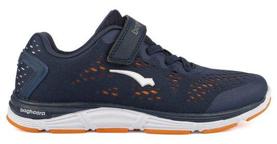 Bagheera Victory Jr Sneaker, Navy/Orange, 28