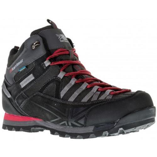 Karrimor Men's Weathertite Rise Waterproof Hiking Boots Multicolor Spike Mid - Black/Red UK-7