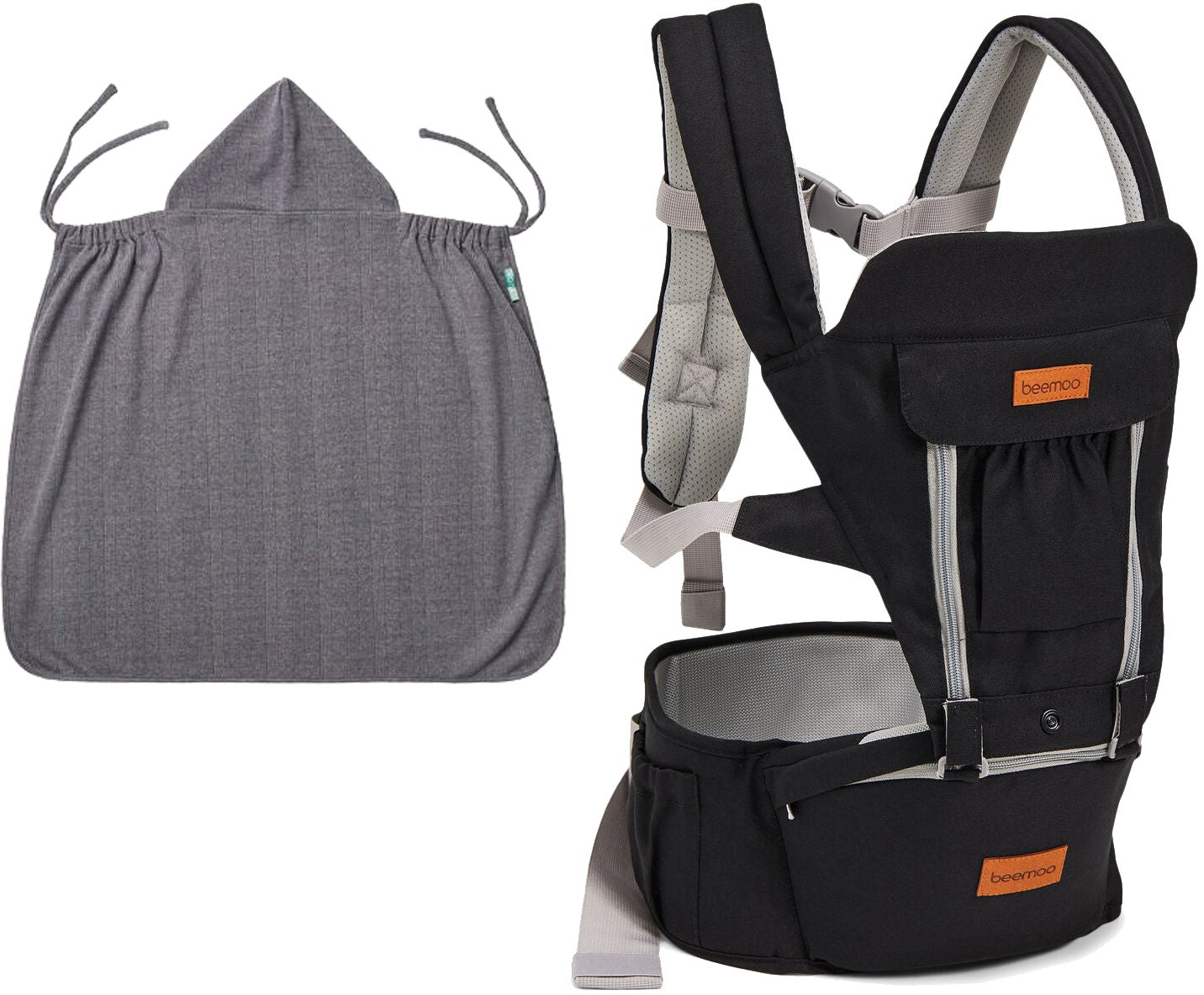 Beemoo Carry Comfort Adjust Kantoreppu + Päällinen, Black