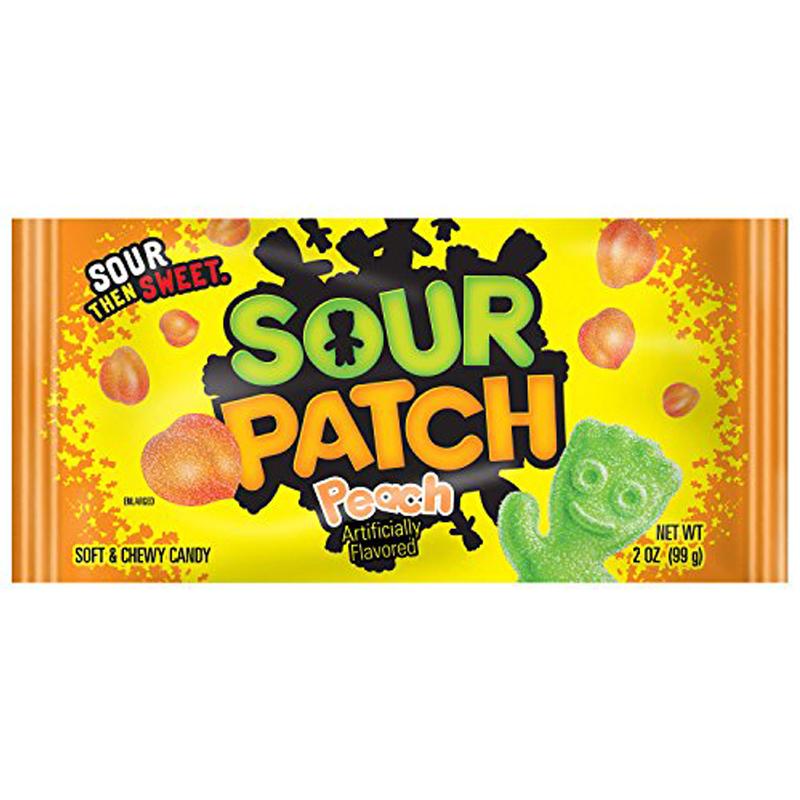 "Godis ""Sour Patch Peach"" 56g - 67% rabatt"