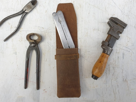 Leather Penknife Case With Belt Clip