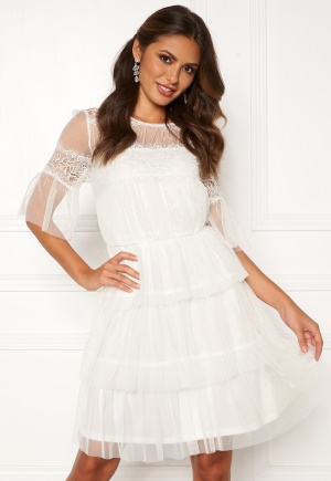 Happy Holly Smilla mesh dress White 36/38S