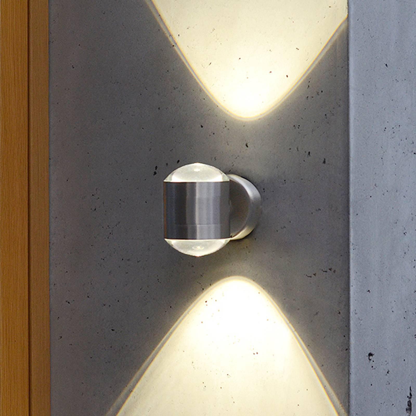 Utendørs LED-vegglampe Crystal