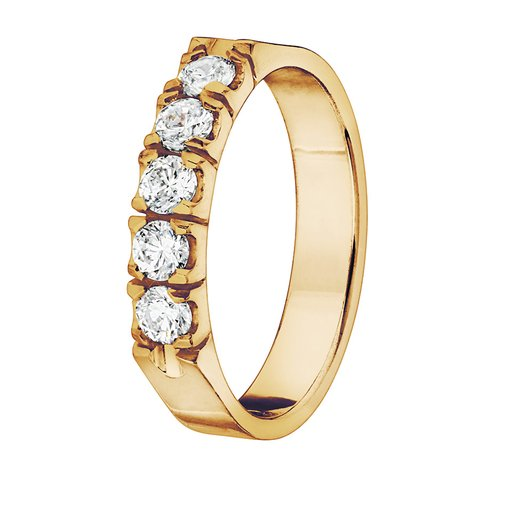 Diamantring i 18K guld, 54