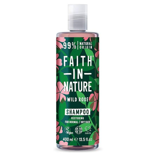 Faith in Nature Wild Rose Shampoo, 400 ml