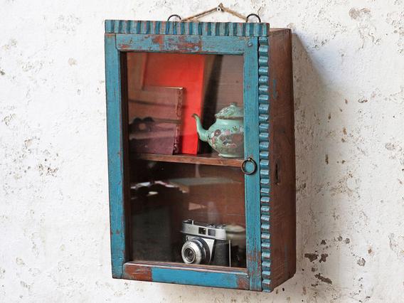 Rustic Blue Cabinet Blue