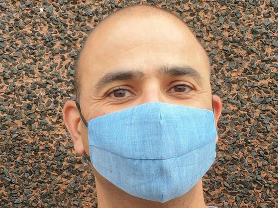 Denim Blue Face Mask Blue