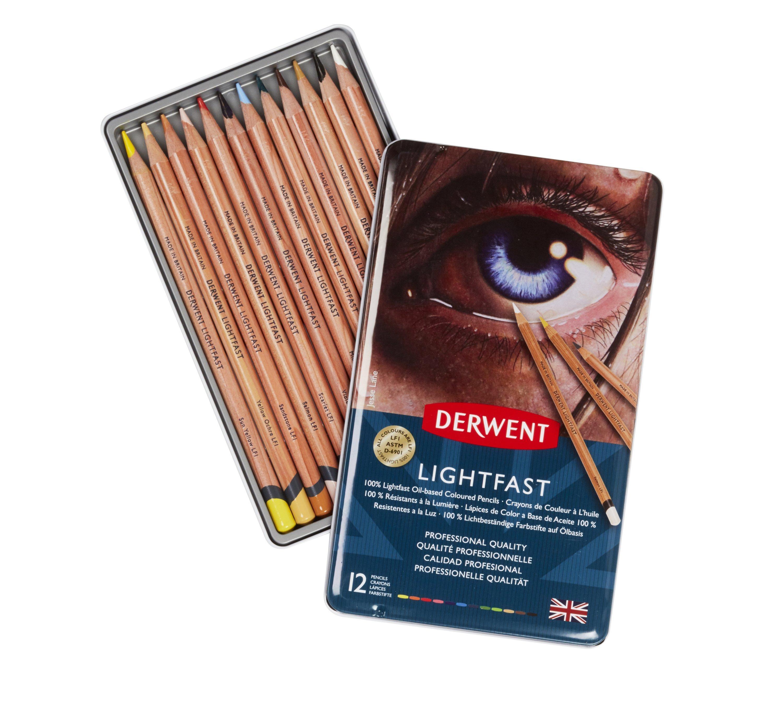 Derwent - Lightfast Pencils, 12 Tin