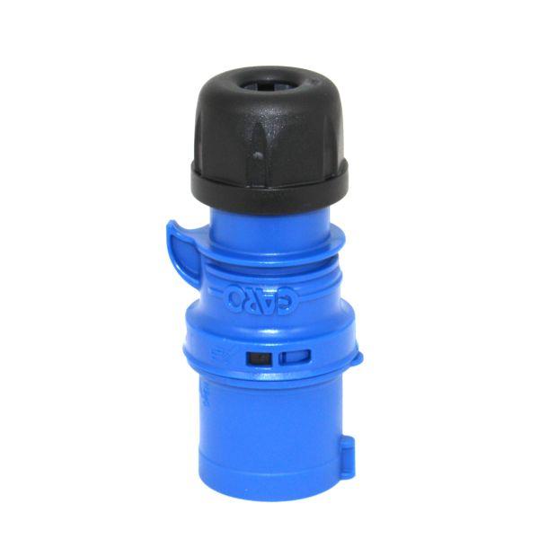 Garo Basic Støpsel IP44 3-polet 32 A 6 h, blå