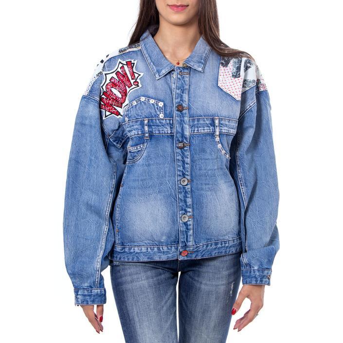 Desigual Women's Blazer Blue 167675 - blue M