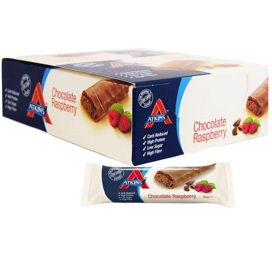 "Hel Låda Lågkaloribars ""Raspberry & Chocolate"" 15 x 30g - 54% rabatt"