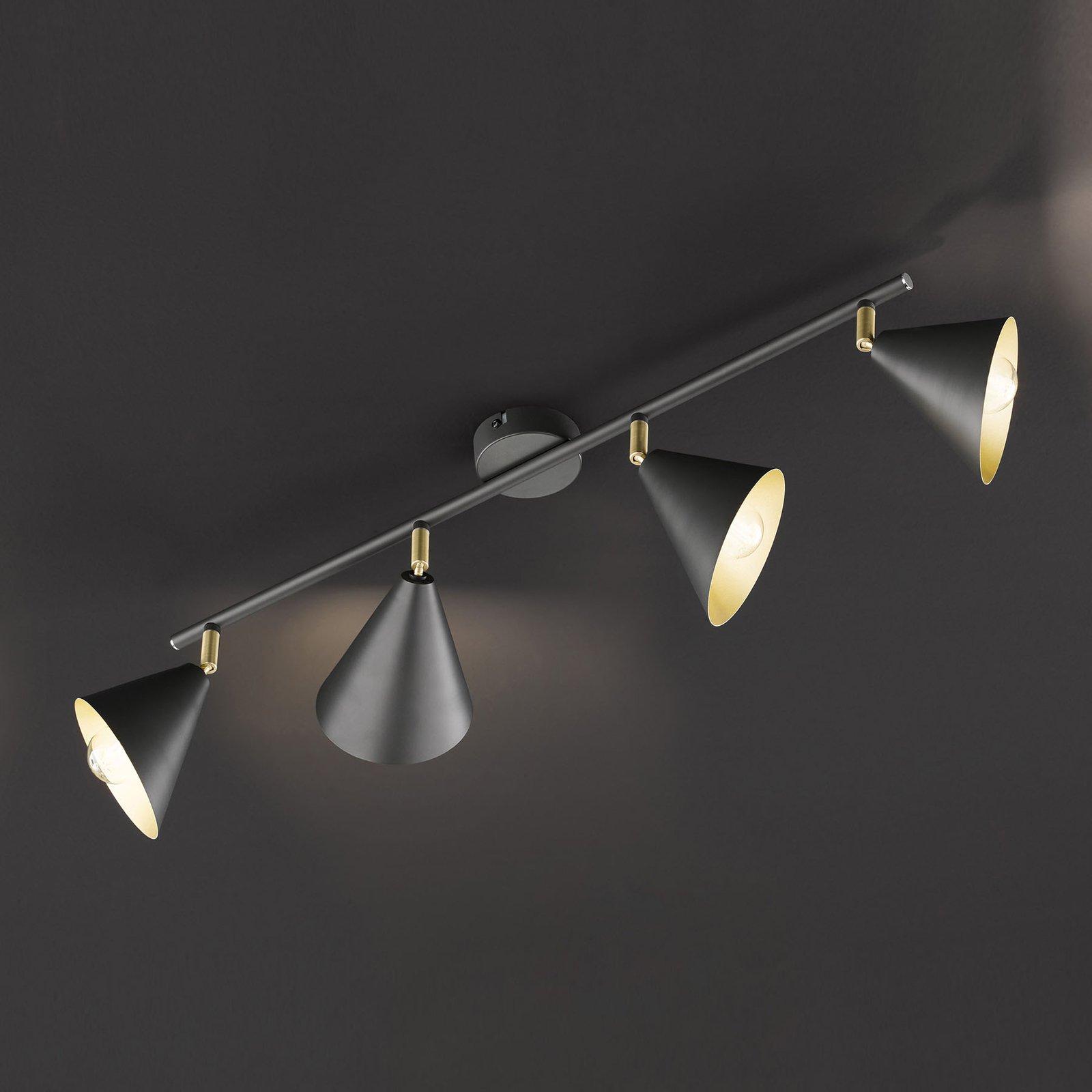 Taklampe Gloria, justerbar, 4 lyskilder