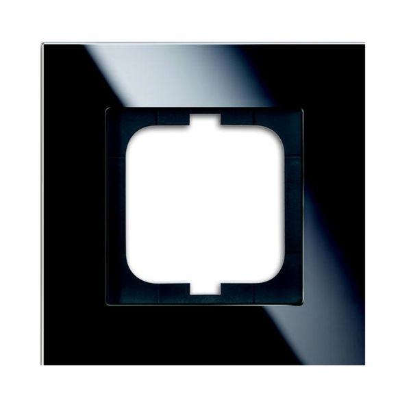 ABB 1721-825 Yhdistelmäkehys musta lasi 1-paikkainen