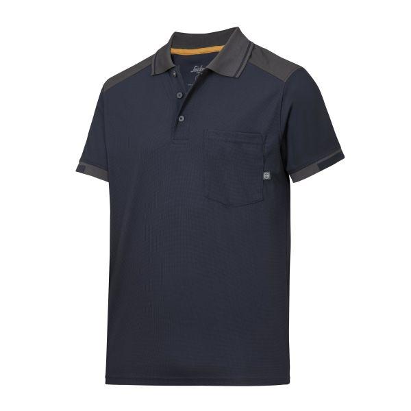 Snickers 2701 AllroundWork Pikéskjorte marineblå/grå XS