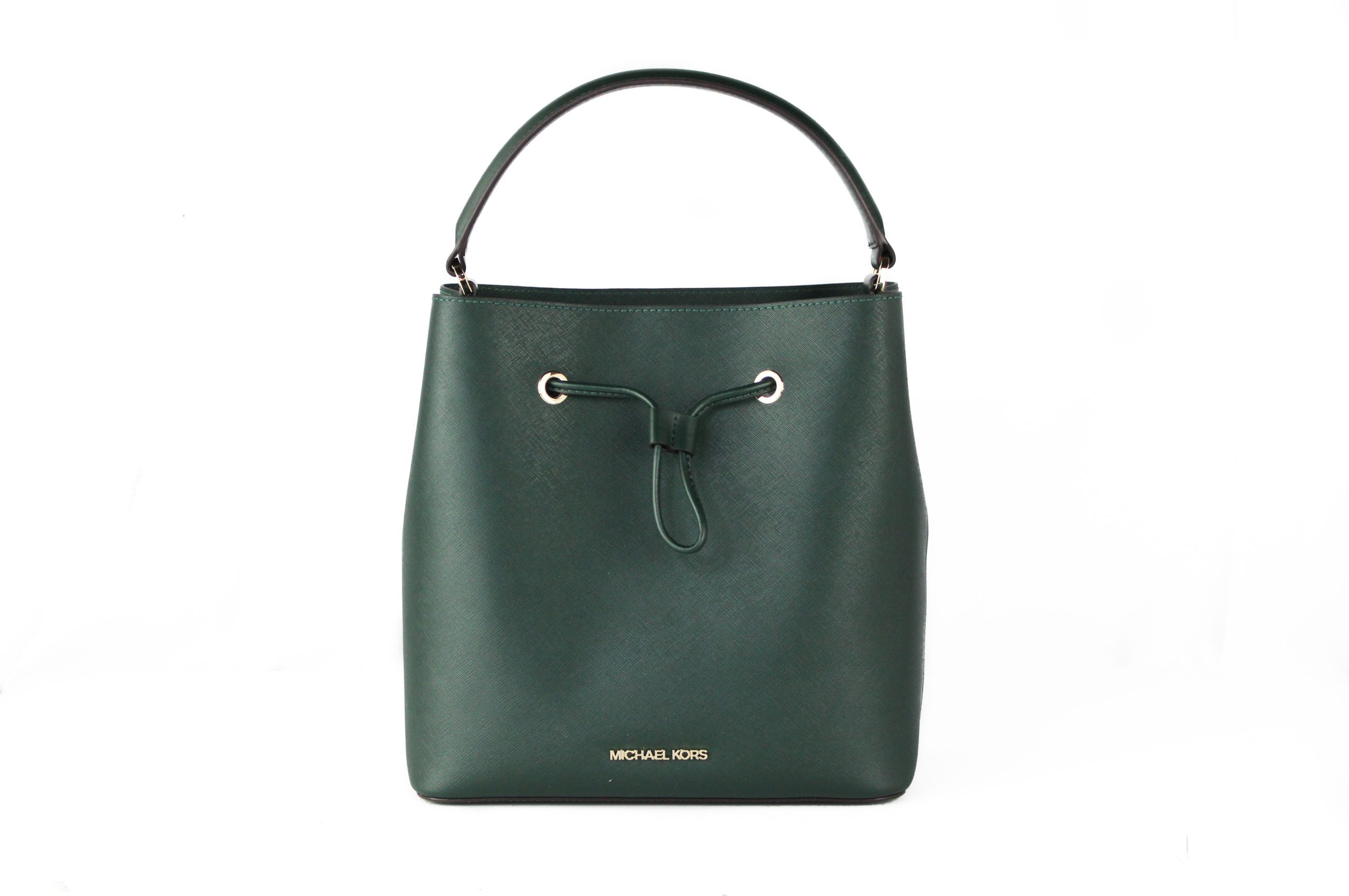 Michael Kors Women's Suri Large Leather Bucket Crossbody Bag Green 35481