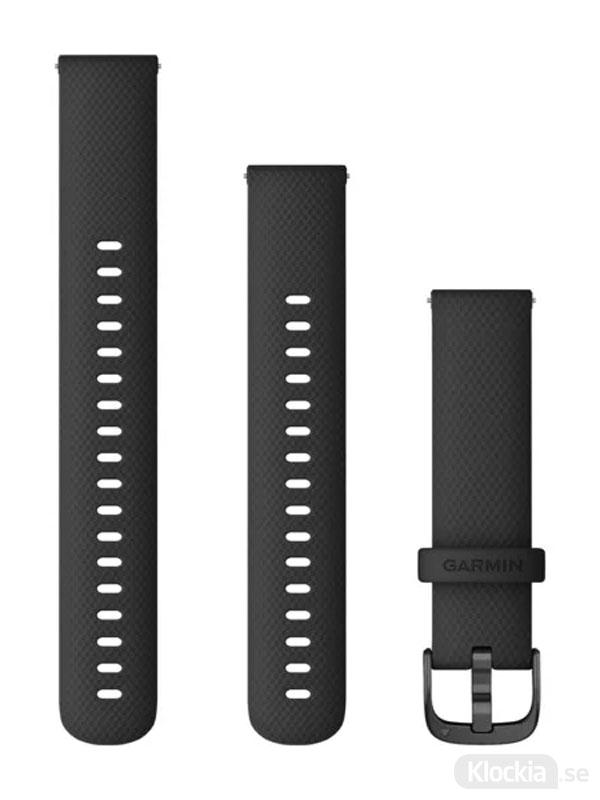 Garmin Armband 18mm Silikon Svart/Svart 010-12932-01