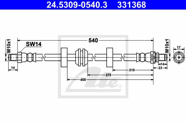 Jarruletku ATE 24.5309-0540.3