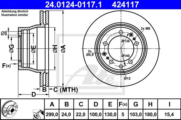 Jarrulevy ATE 24.0124-0117.1