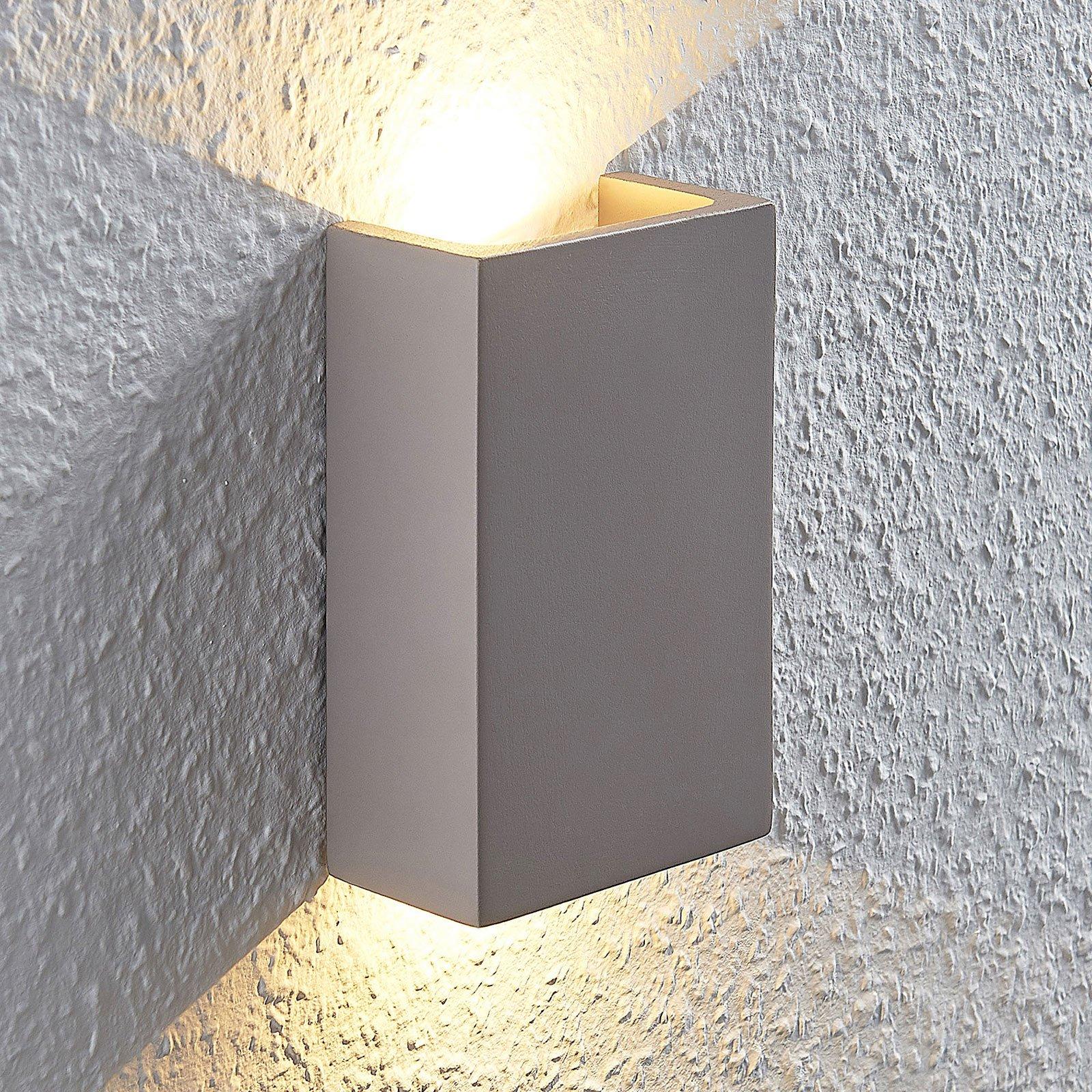LED-vegglampe Cataleya Betong Up&Down 10x16cm